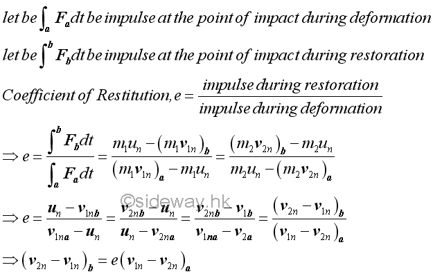 lab 8 coefficient of restitution
